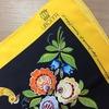Платок Иволга по мотивам городецкой росписи заказать Нижний Новгород.jpg