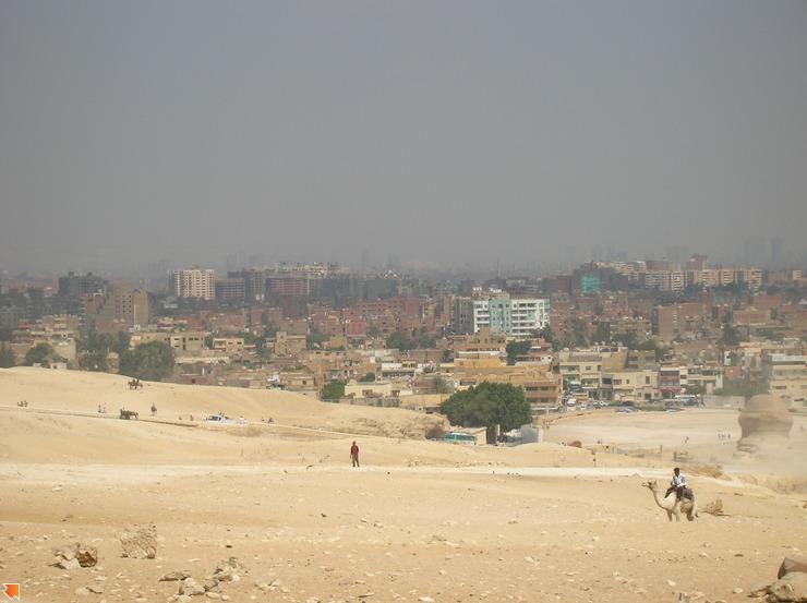 Панорама Каира со стороны пирамид!