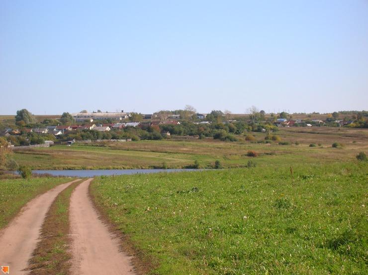 Вид на деревушку