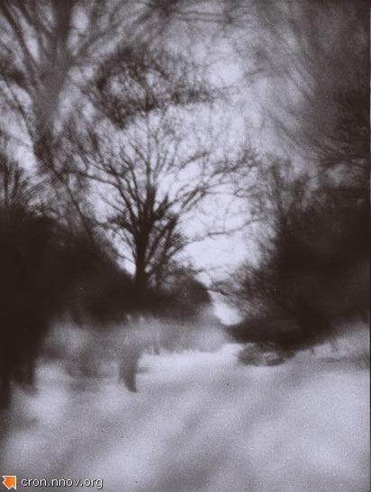 Дорога к зимнему озеру