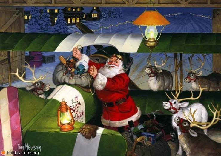 Открытки с Санта-Клаусом