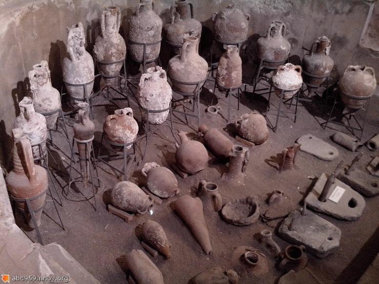 Амфоры в музее г.Сиде