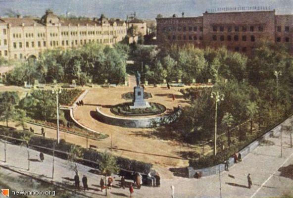1962. Горький. Площадь К.Минина