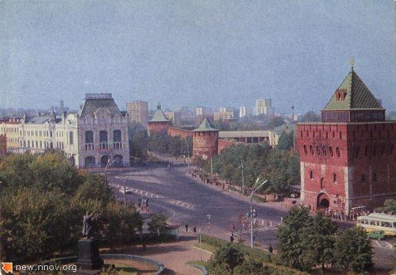 1978. Горький. Площадь Минина