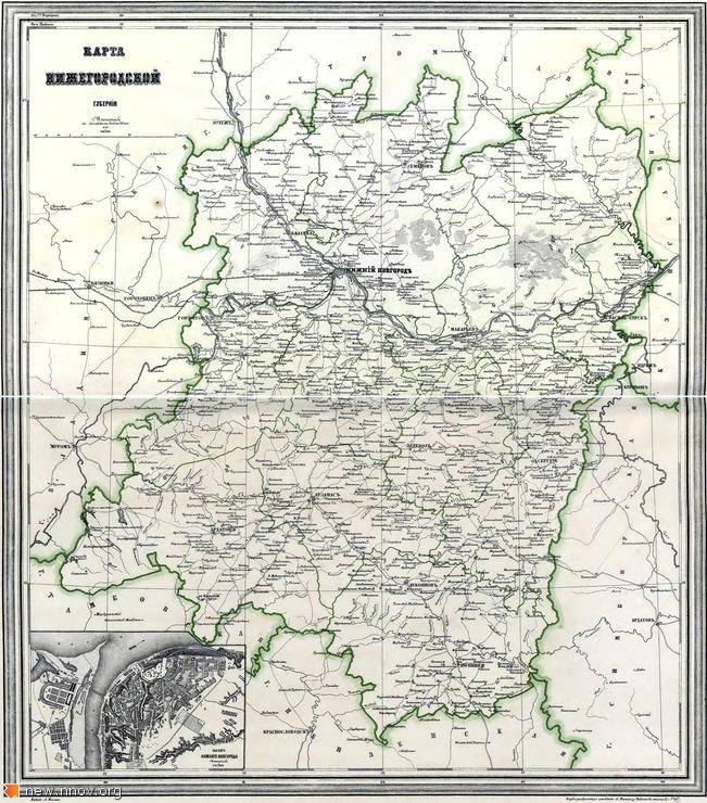 Карта Нижегородской губернии 1871 год. Атлас Российской Империи 1871 года (Ильин А., Санкт-Петербург, 1871 г.).jpg