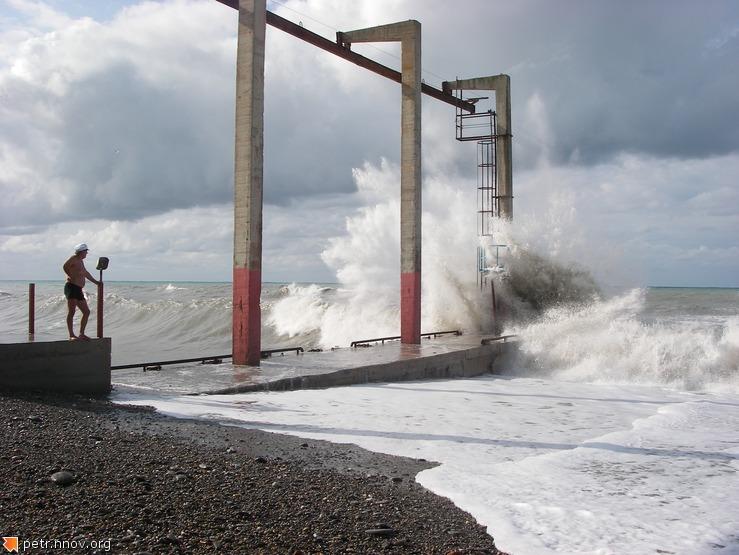 Летний шторм на Черном Море