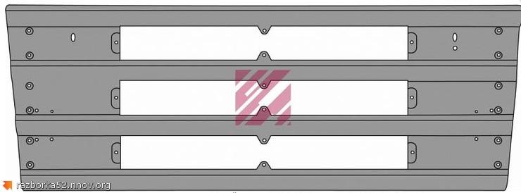 Облицовка радиатора Scania 4, 1397570, 1371856