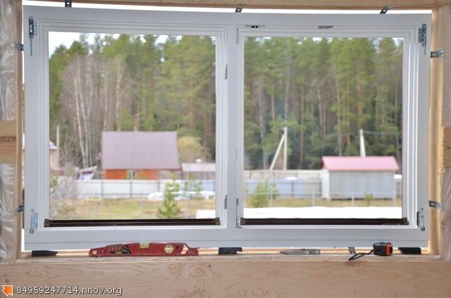 Деревянные окна со стеклопакетом , монтаж.JPG