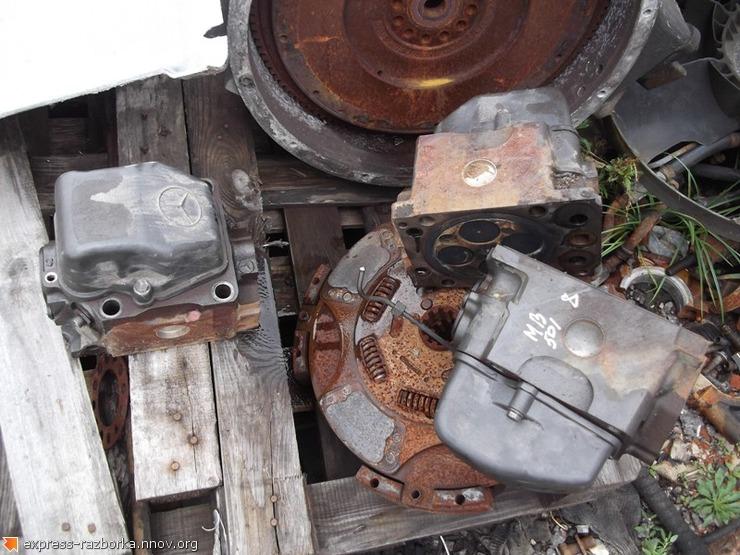 6086 головка блока двигателя 5410104021 Mercedes OM501 Мерседес.JPG