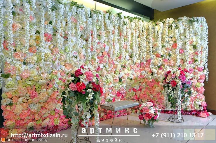 цветочная стена аренда