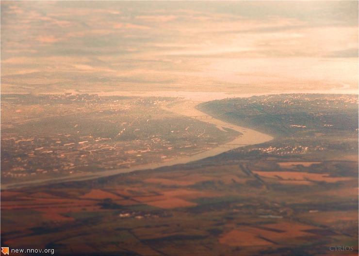 Вид Нижнего Новгорода с растояния 40 км