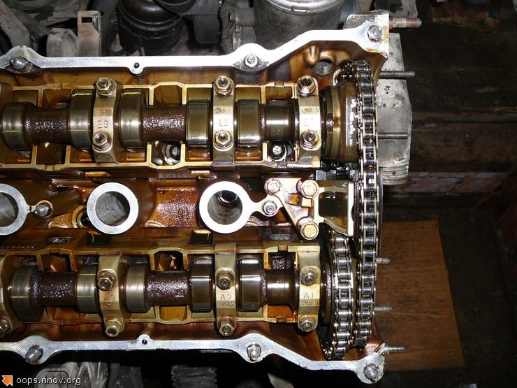 2-я серия. M50 верхняя часть привода ГРМ