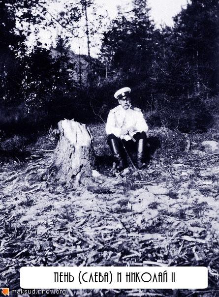 Николай II и пень.jpg