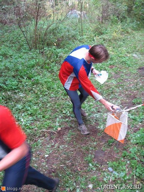 Нижегородская осень - 2008. Воскресенье, день второй. Во время отметки - посмотри путь на следующий КП.