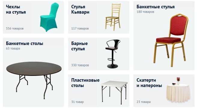 Банкетная мебель и текстиль с доставкой по России и СНГ chiedocover.ru